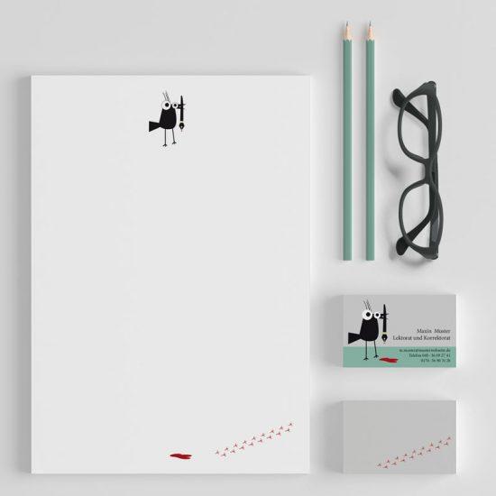 Briefpapier und Visitenkarten Lektorat