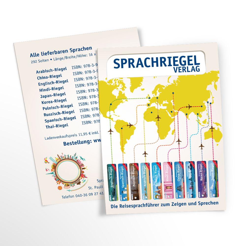 Sprachriegel Verlag Flyer